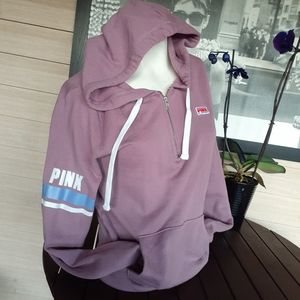 Pink Victoria's Secret pullover hoodie size small